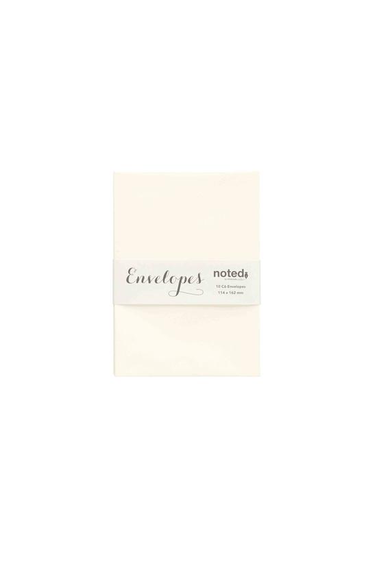 Noted Envelopes C6 Laid Cream ...