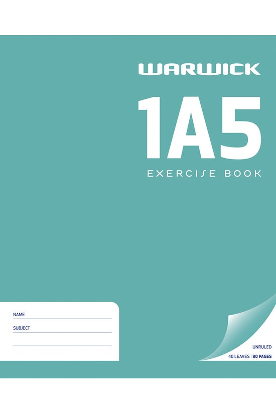 Warwick 1a5 Exercise Book Unru...
