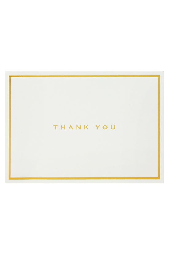 Whsmith Thank You Cards Gold F...