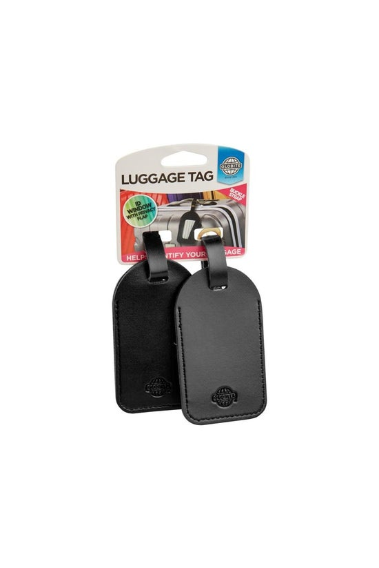 Globite Bag Tag Leather Look B...