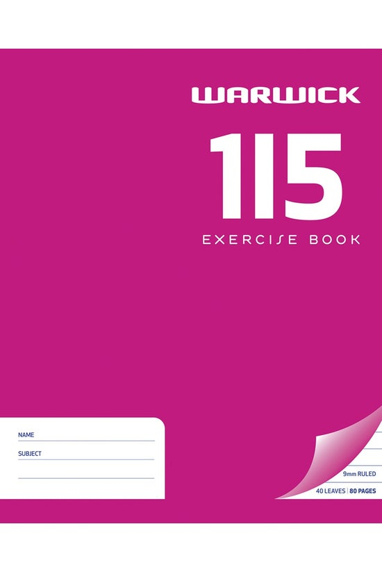 Warwick 1i5 Exercise Book 255 ...