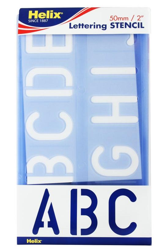 Helix Stencil Alphabet 50mm H9...