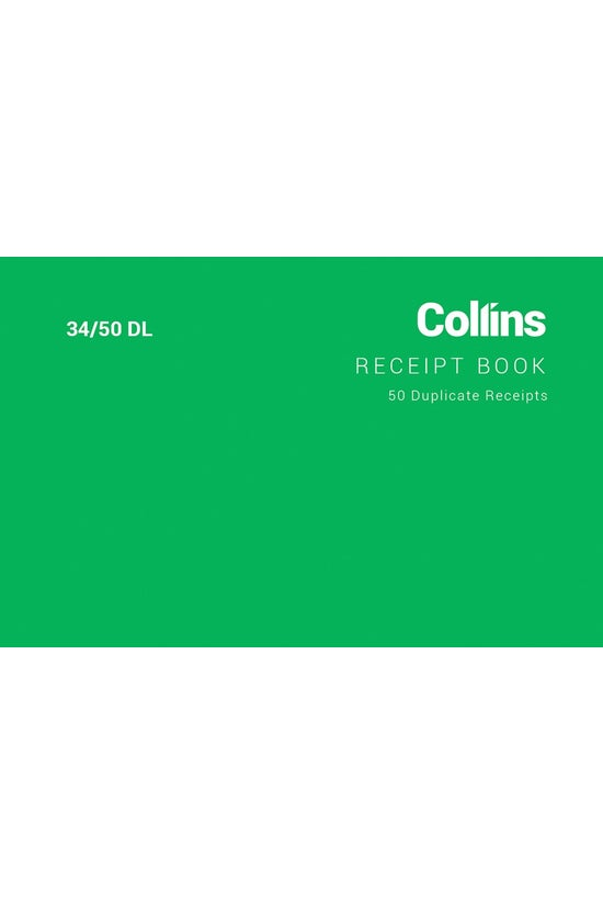 Collins Receipt Book 34 Dl 67x...