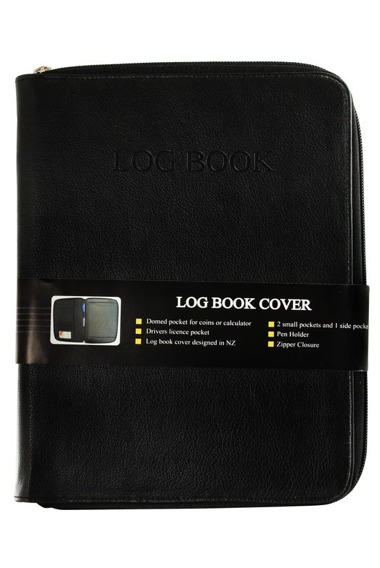 Log Book Cover With Zipper Clo...