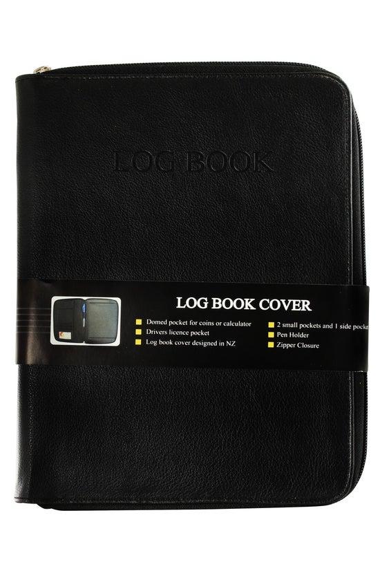 Log Book Cover With Zipper Clo...