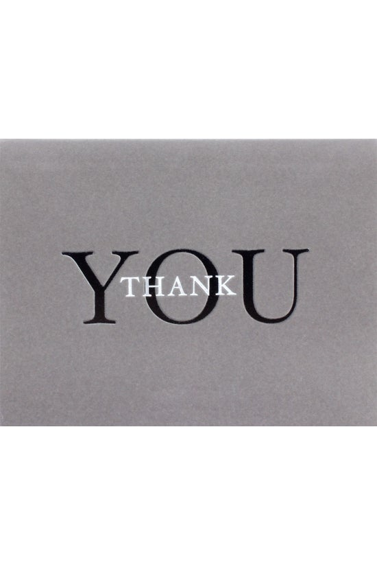 Papyrus Thank You Card Grey Fe...