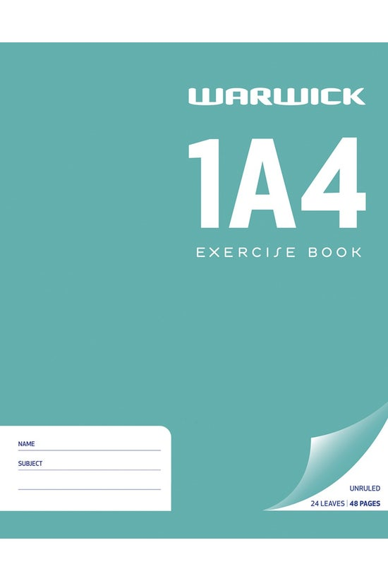Warwick 1a4 Exercise Book Unru...