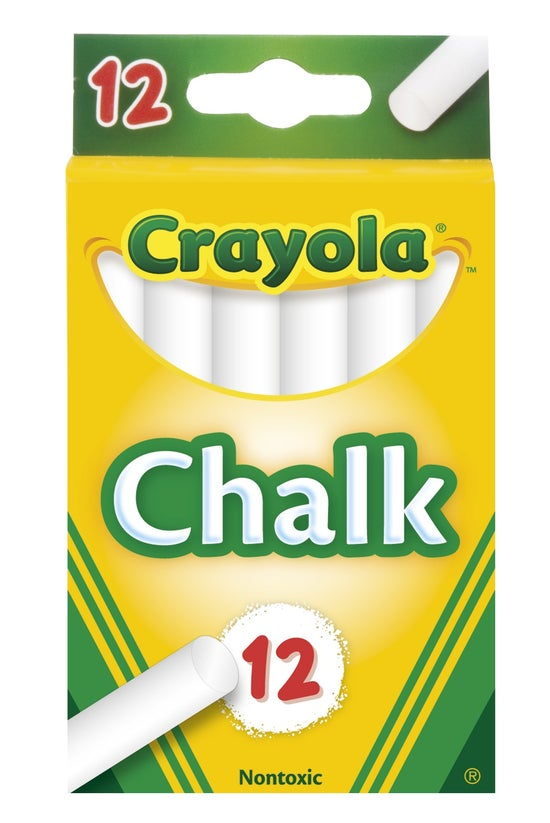 Crayola Chalk White Pack 12