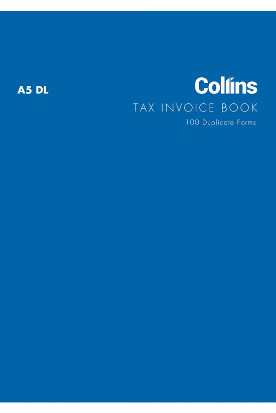 Collins Tax Invoice Book A5 Dl...