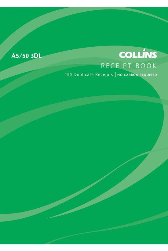 Collins Receipt Book A5 3 Dupl...
