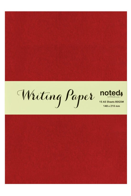 Noted A5 Paper 15 Sheets Red