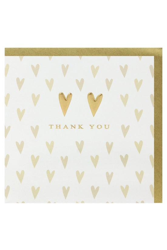Whsmith Thank You Cards Gold H...
