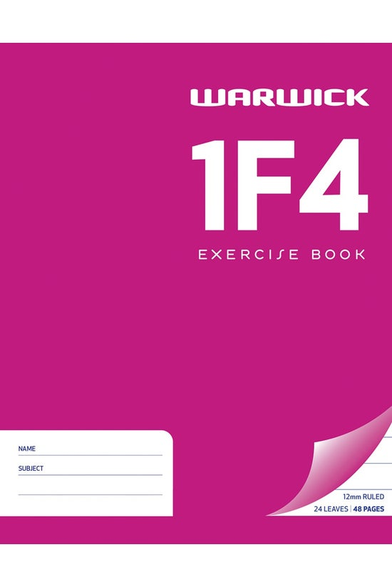 Warwick 1f4 Exercise Book 230 ...