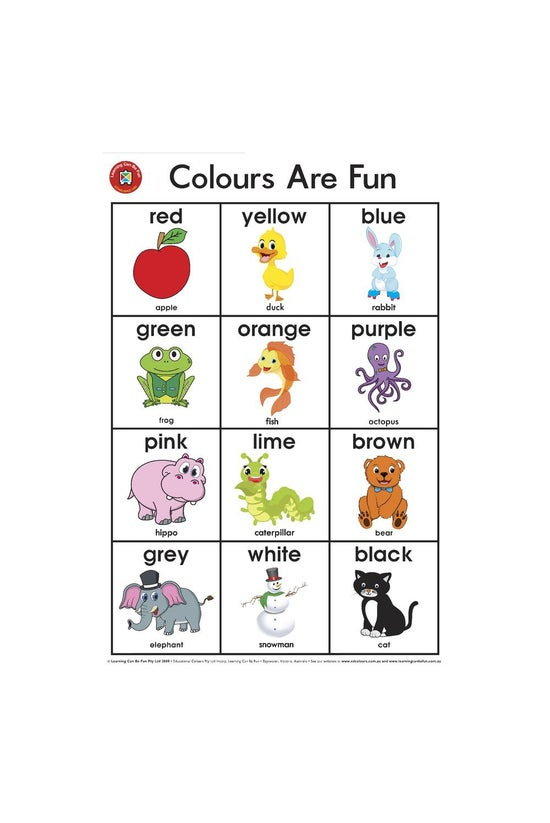 Learning Can Be Fun: Colours A...