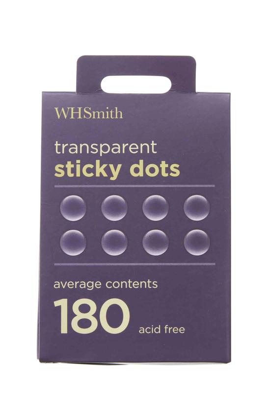 Whsmith Transparent Sticky Dot...