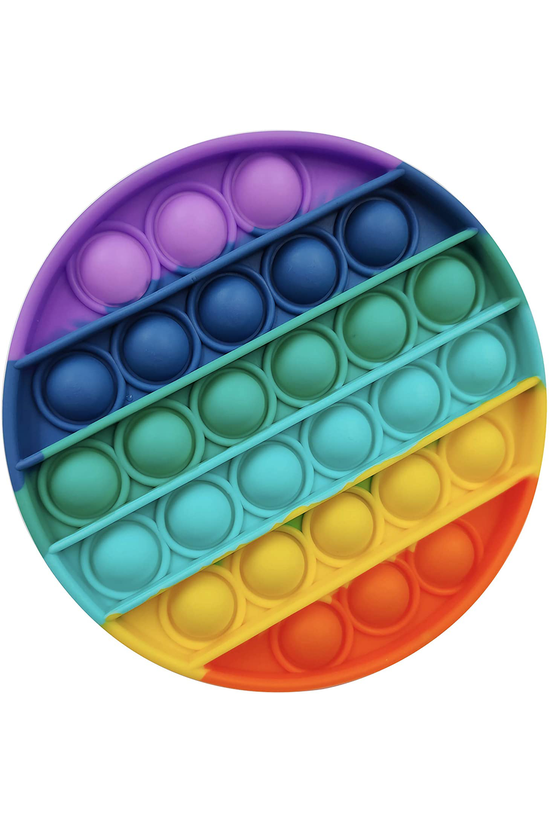 Popit Fidget Toy Rainbow Circl...
