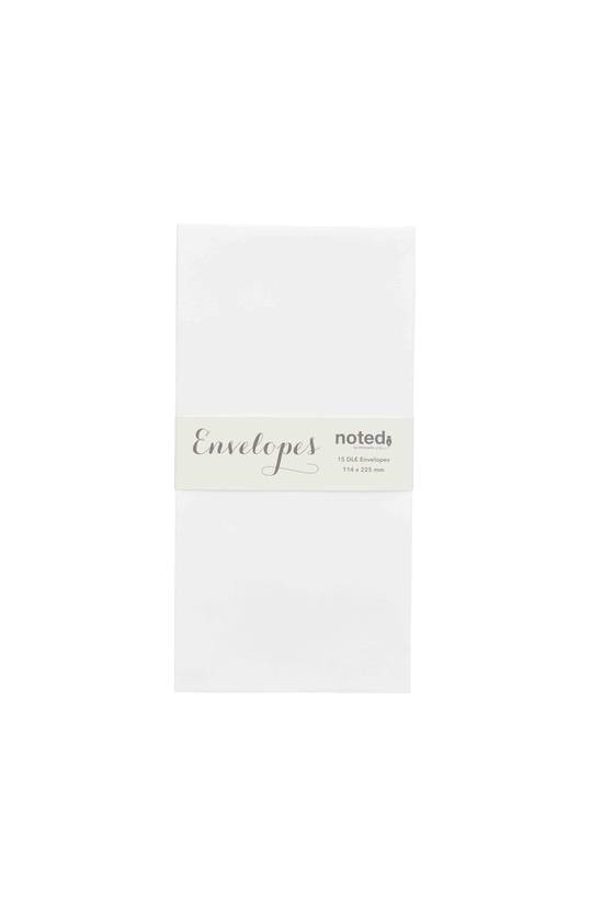 Noted Envelopes Dle Laid White...