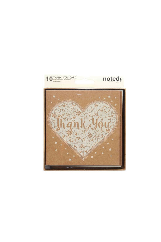 Whsmith Thank You Notecard Hea...