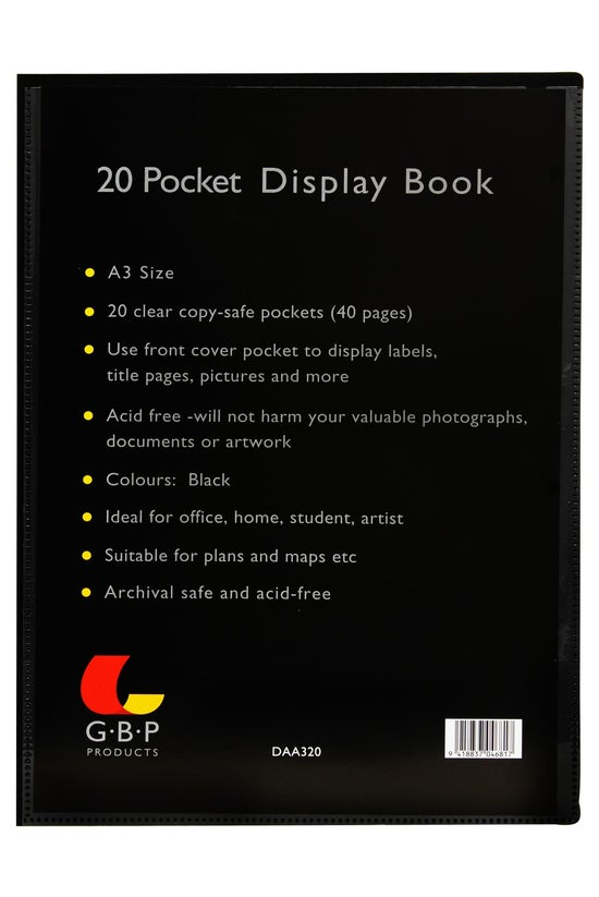 Gbp Display Book A3 20 Pockets