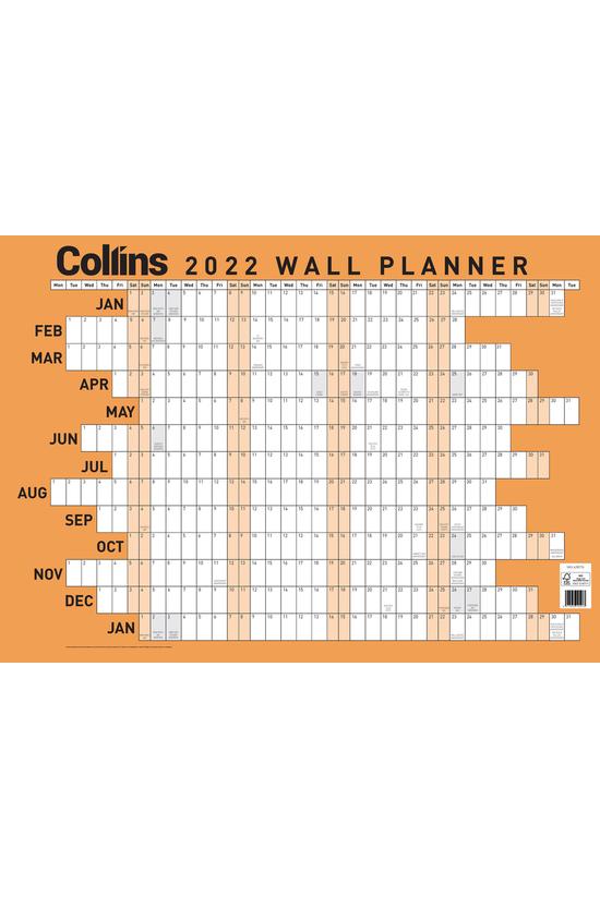 2022 Collins Wallplanner A3