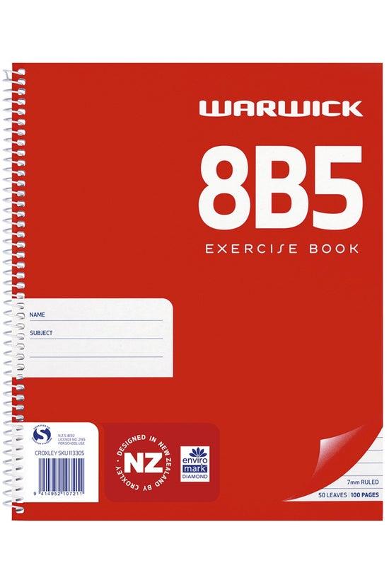 Warwick 8b5 Notebook Spiral 16...