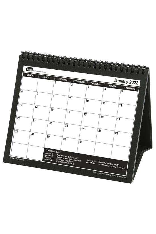 2022 Sasco Desk Calendar Black...