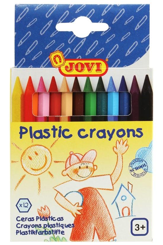 Jovi Plastic Crayons Pack 12