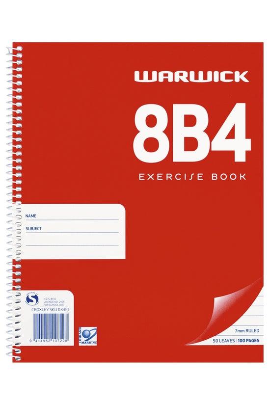 Warwick 8b4 Notebook Spiral 50...