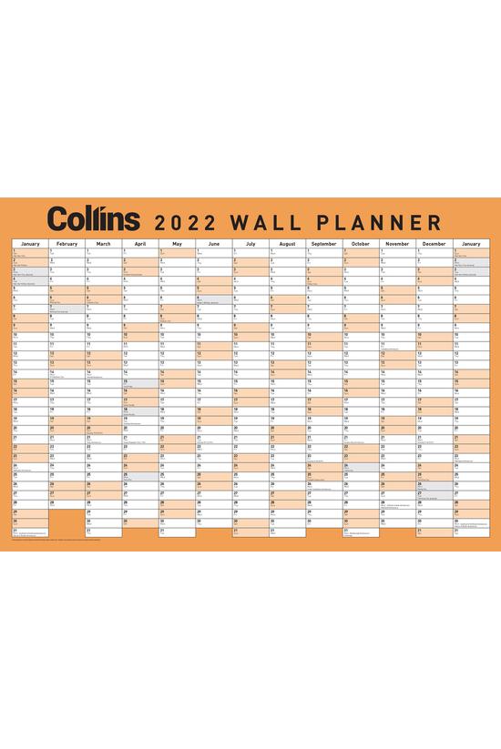 2022 Collins Wallplanner A3 La...