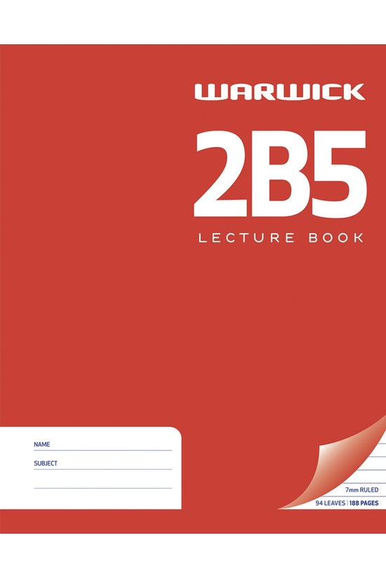 Warwick 2b5 Hard Cover Lecture...