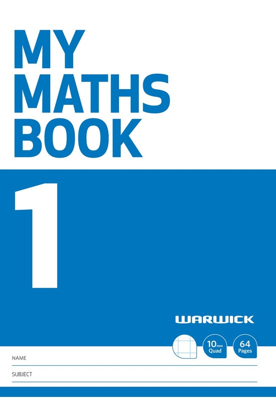 Warwick My Maths Book 1 10mm Q...