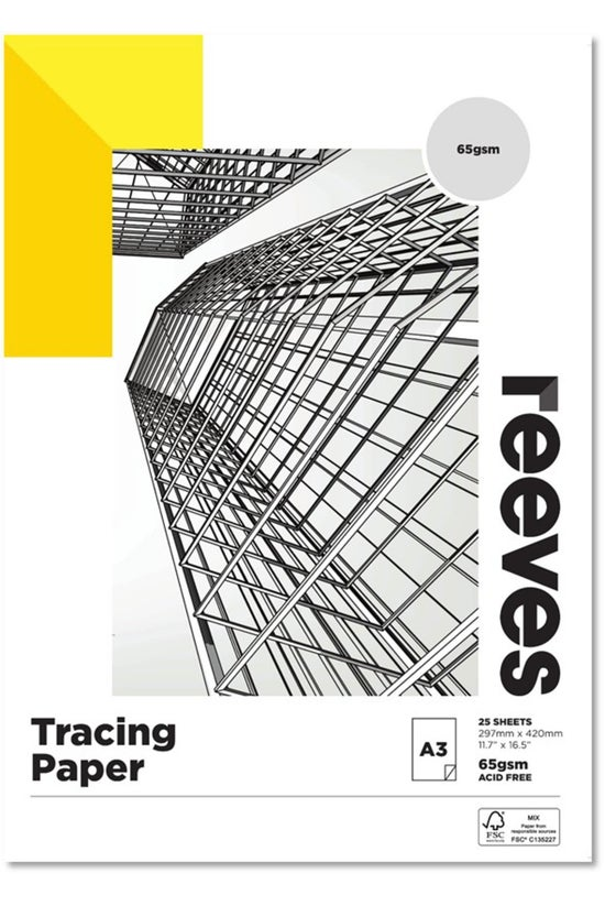 Reeves A3 Tracing Paper Pad 25...