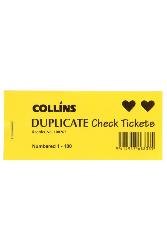 Collins Check Tickets Book Dup...