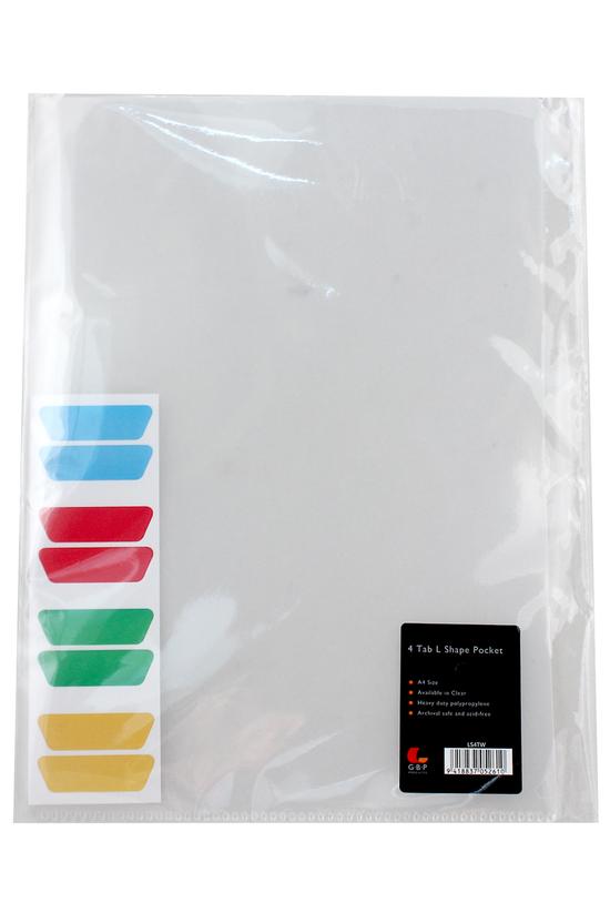 Gbp L-shaped A4 Pocket 4 Tab C...