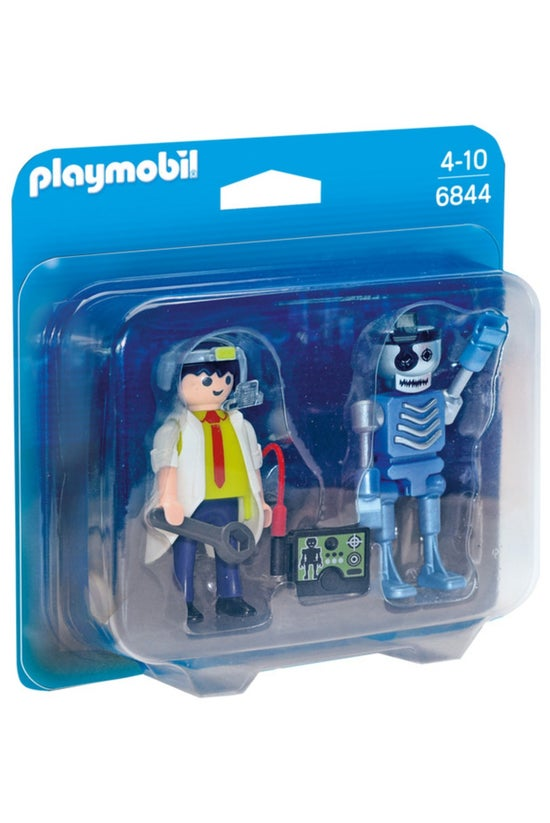 Playmobil Scientist & Robo...