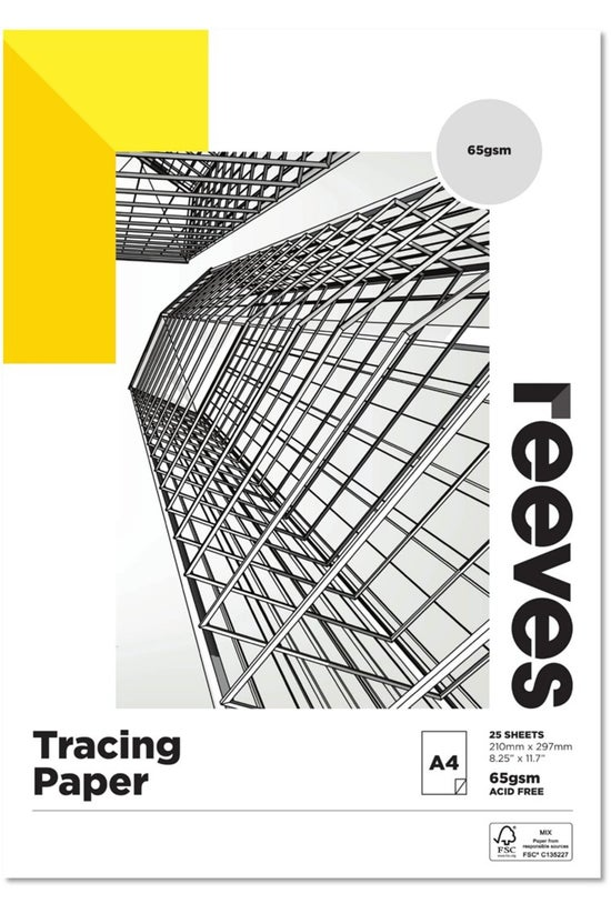 Reeves A4 Tracing Paper Pad 25...