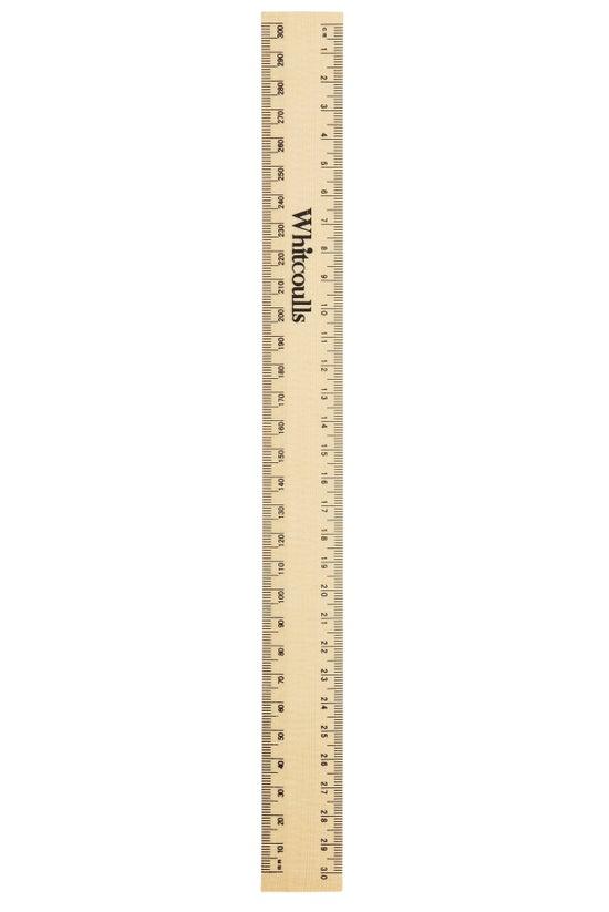 Whitcoulls Wooden Ruler 30cm