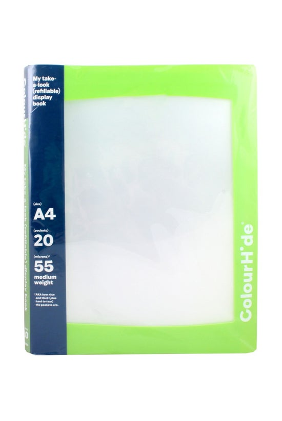 Colourhide A4 Display Book Wit...
