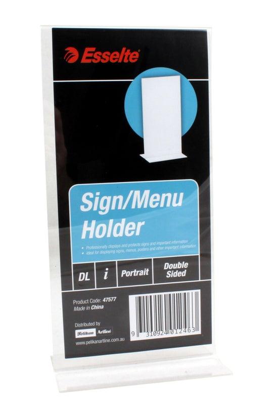 Esselte Sign Holder Dl 2-sided...
