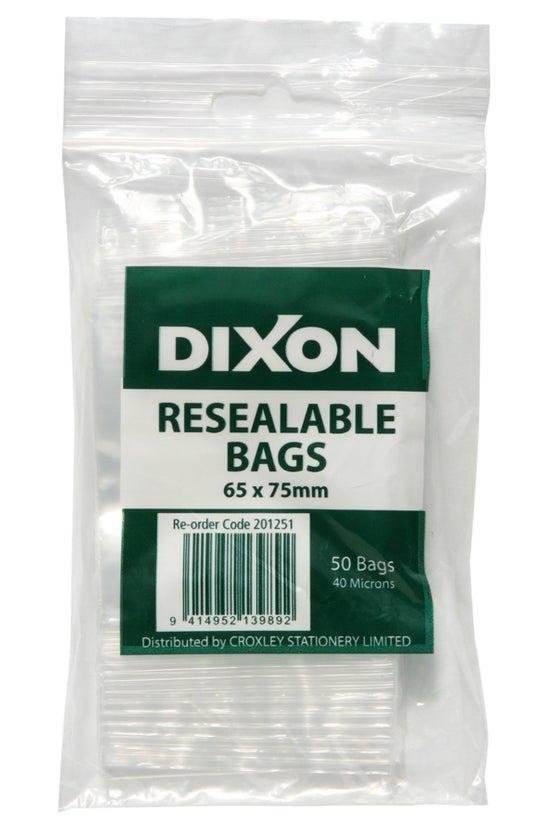Dixon Resealable Bags 65x75mm ...