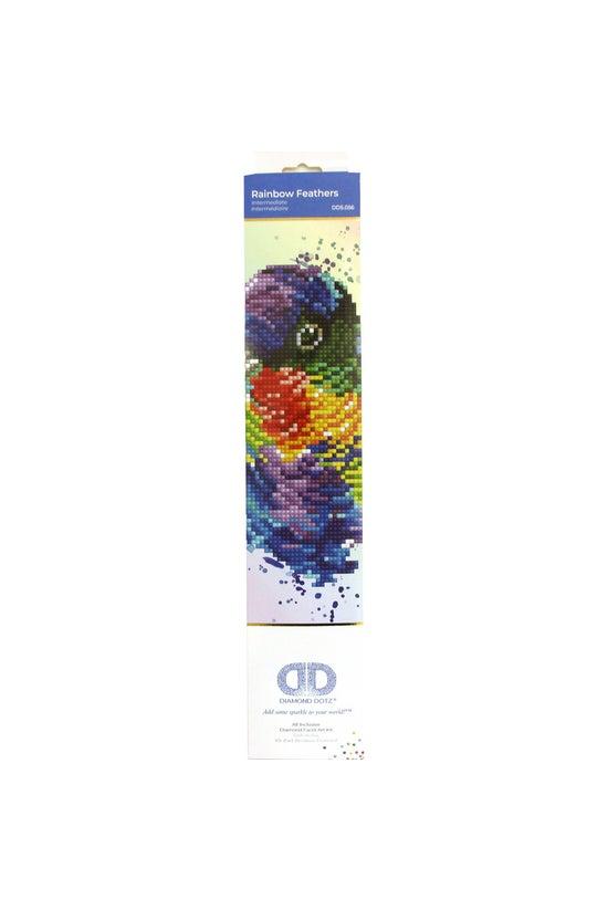 Diamond Dotz: Rainbow Feathers