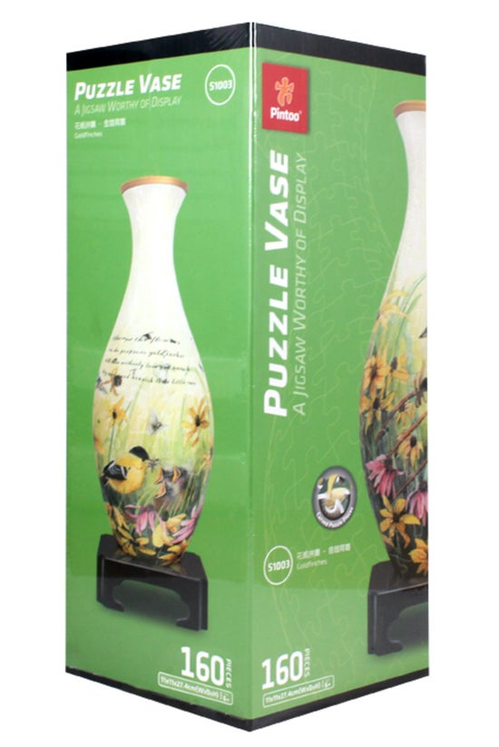 3d Jigsaw Puzzle Vase Goldfinc...