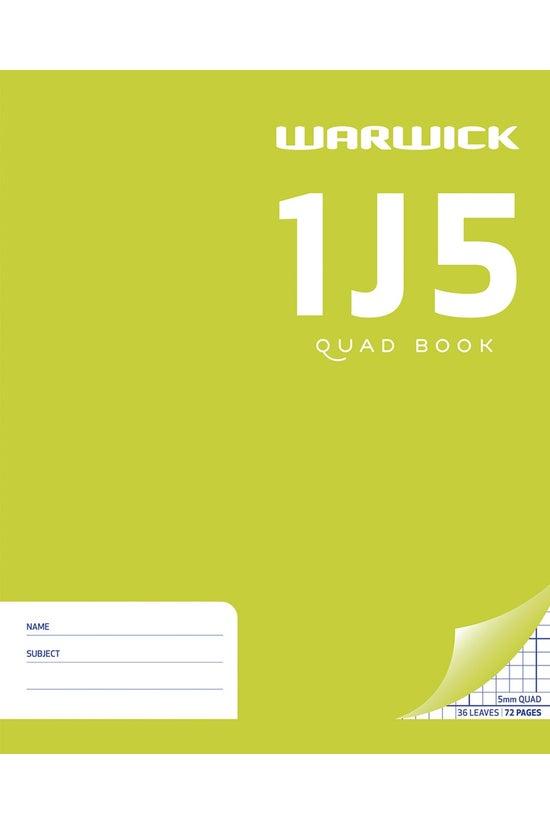 Warwick 1j5 Quad Book 36 Leaf