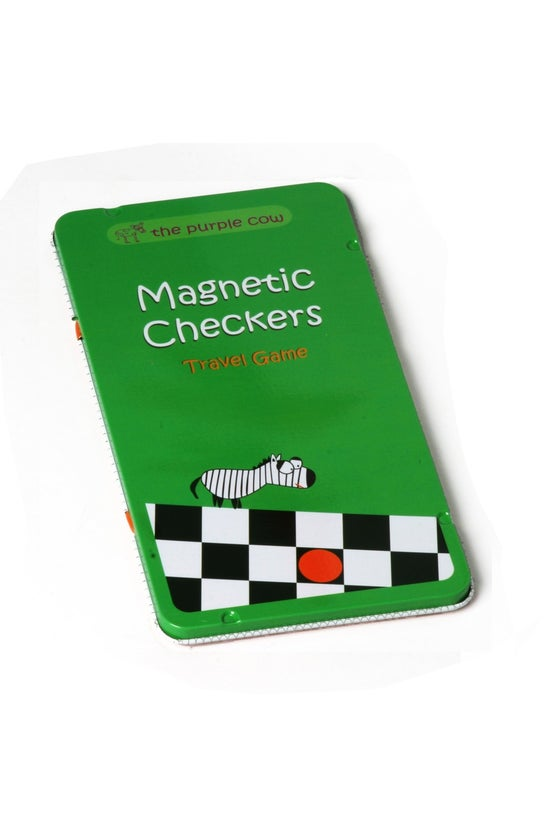 Purple Cow Magnetic Checkers