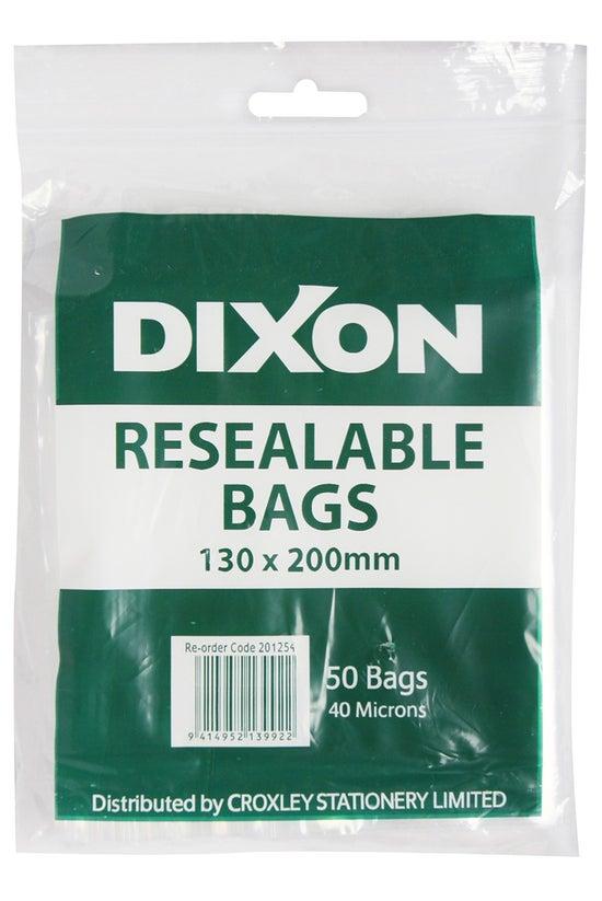 Dixon Resealable Bags 130x200m...