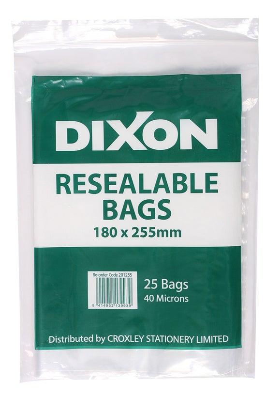 Dixon Resealable Bags 180x255m...