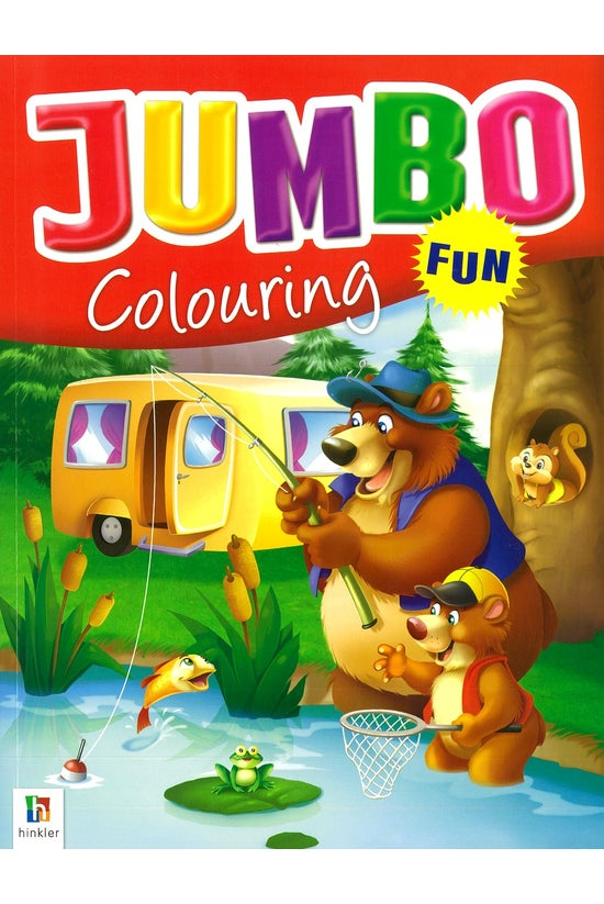 Jumbo Colouring Book Red Bear