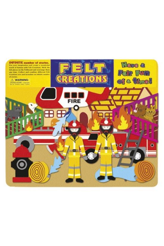 Felt Creations Fire Engine
