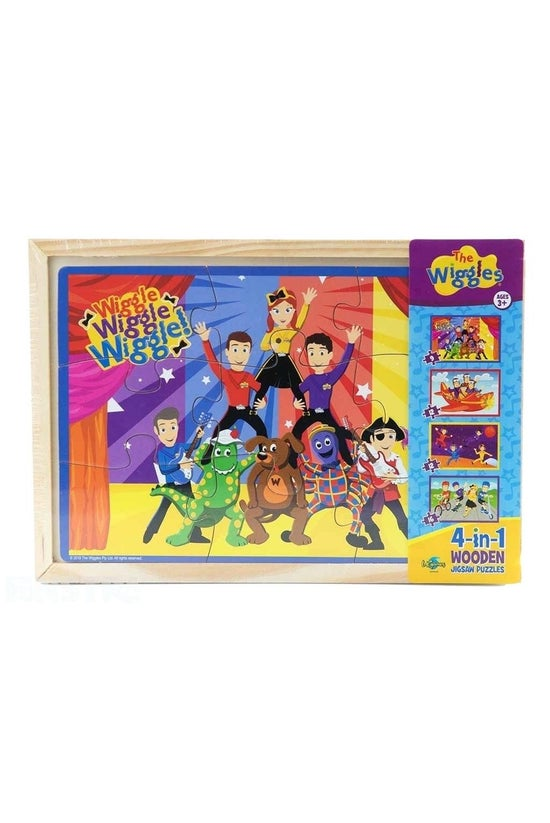 Wiggles 4-in-1 Wooden Jigsaw P...