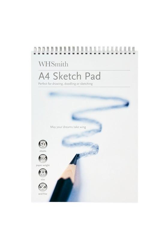 Whsmith Sketch Pad A4 135gsm 5...
